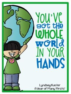 """Grab this activity packet just in time for Earth Day!   In this packet you will find:   -""""Don't Be a Litter Monster!"""" story  - """"Whole World In Your Hand' Craft Templates and Instructions  - Vocabulary Cards  - Earth Day writing activities and graphic organizers"""