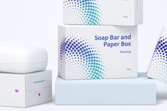 Soap Bar and Paper Boxes Mockup Paper Boxes, Box Mockup, Soap Bar, Shampoo Bar, Packaging Design, Package Design