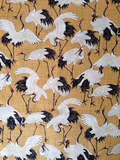HALF YARD Kona Bay Crane Dynasty coordinate Japanese por kimonomomo