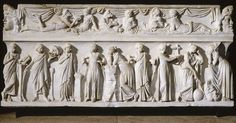 Sarcophagus of the Muses. First half of the second century AD. Roman Art   Louvre Museum