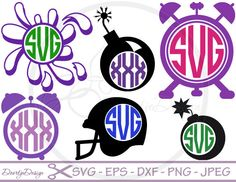 Circle Monogram Frame SVG files for Cricut, DXF files designs for silhouette, cut file, svg monogram frame bomb, clock monogram frame