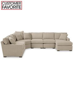 Radley Fabric 6 Piece Modular Chaise Sectional