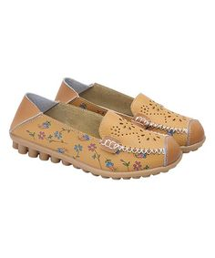 80e729a9baec Wei Deng Yellow Paisley Floral Leather Loafer - Women