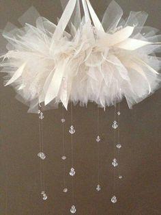 Cloud/tutu chandelier