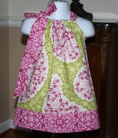 This might be the one?  toddlers spring Pillowcase dress Michael Miller secret garden paisley green toddler girls dresses. $19.99, via Etsy.