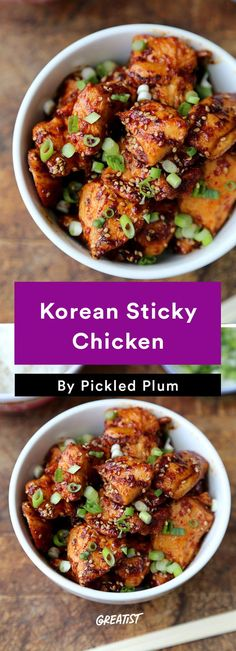 6. Korean Sticky Chicken #greatist http://greatist.com/eat/easy-stir-fry-recipes-to-make-during-the-week