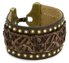 Streets Ahead Chocolate Woven on Leather with Lt Colorado Topaz Crystals Cuff Bracelet Streets Ahead. $55.00. Made in United States. Items that are handmade may vary in size, shape and color