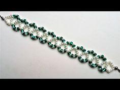 Go Green Bracelet 3. Beading jewelry pattern for beginners - YouTube