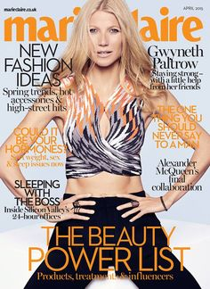 Gwyneth Paltrow for Marie Claire UK April 2015