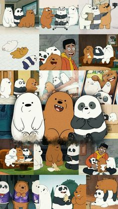 Simpson Wallpaper Iphone, Cute Emoji Wallpaper, Bear Wallpaper, Cute Disney Wallpaper, Cute Wallpaper Backgrounds, We Bare Bears Wallpapers, Panda Wallpapers, Cute Cartoon Wallpapers, Ice Bear We Bare Bears