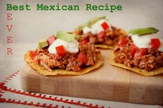 """BEST MEXICAN RECIPE EVER – TINGA POBLANA TACOS There was fierce competition this week in the """"Best Mexican Recipe Ever"""" contest! In the end, one recipe caught our judge's eye. """"Tinga Poblana Tacos"""" may sound fancy, but they are actually easy to make in a CrockPot."""