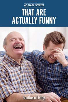 Beat dad at his own game at the dinner table when you're armed with these clever dad jokes. Add these clever one-liners and puns to your repertoire and you'll be on your way to matching dad's pun-king status in no time. #dadjokes #funnyjokes #cornyjokes #southernliving Dad Puns, Corny Puns, Cheesy Puns, Best Dad Jokes, Great Jokes, Jokes For Kids, Funny Jokes, Hilarious, Funny Logic