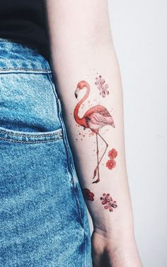 Flamingo Temporary Tattoo by PAPERSELF