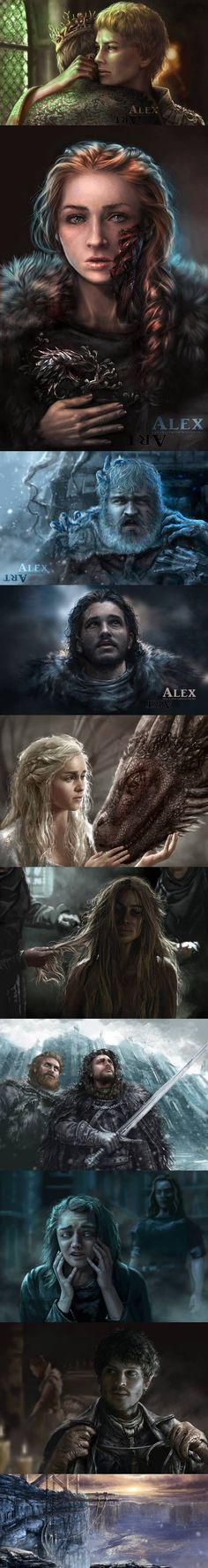 game of thrones alex art That is a great Ramsay painting. Winter Is Here, Winter Is Coming, Game Of Thrones News, Game Of Trone, Daenerys Targaryen, The North Remembers, Movies And Series, Valar Morghulis, Book Tv