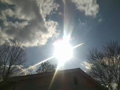 Sun towering above my house