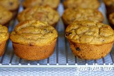 Pumpkin Banana Chocolate Chip Muffins #clean #glutenfree #fall