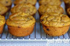 Pumpkin Banana Chocolate Chip Muffins {Gluten-free}