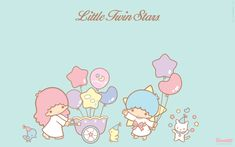 Get free exclusive Little Twin Stars goodies. Super dreamy wallpaper, papercrafts and more. My Melody Wallpaper, Star Wallpaper, Wallpaper Iphone Cute, Little Twin Stars, Little Star, Trippy Patterns, Star Illustration, Hello Kitty Images, Star Images