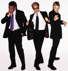Michael Tait, Toby Mac, and Kevin Max of dc Talk. ~ Their music played a big role in my teen years.