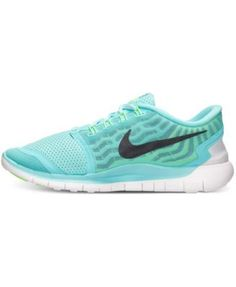 b726a6bb149c Nike Women s Free 5.0 Running Sneakers from Finish Line - Blue 8.5 Running  Shoes Nike