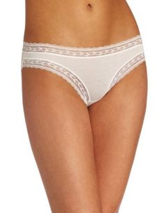 4d040c3c9f9 Calvin Klein Womens Mix modal with Lace Bikini, White, Large - Panty Hoarder