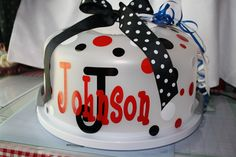 personalized cake carrier.