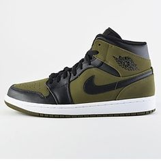separation shoes 959b4 e6d74 Air Jordan 1 Mid  Olive Canvas  (554724-301) Luft Jordans,