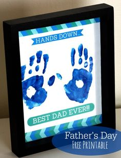 60 DIY gifts for dad for Christmas, birthdays and DIY Father's Day Gifts - Homemade Ideas for Father's Day GiftsFather's Day free printable gift from Catch My Party Kids Crafts, Baby Crafts, Preschool Crafts, Craft Activities, Easy Fathers Day Craft, First Fathers Day, Happy Fathers Day, Father Sday, Preschool Fathers Day Gifts