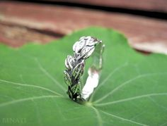 Leaves Ring In Silver Leaf Ring Leaf Jewelry Friendship by Benati