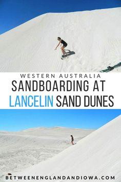 Lancelin: Sandboarding At The Lancelin Dunes Western Australia! Perth Western Australia, Visit Australia, Australia Travel, Queensland Australia, Australia Honeymoon, Brisbane, Melbourne, Sydney, Cairns