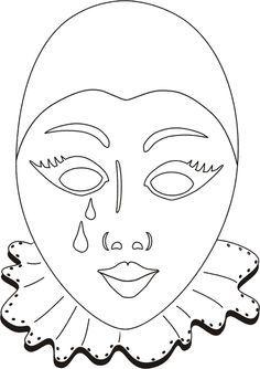 Las caretas venecianas han sido sacadas de: plantillasdedibujos.blogspot.com ...
