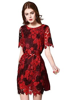 4e31c78b301 Joy EnvyLand Women Lace Chiffon Cocktail Prom Party Tunic Embroidered Dress      Quickly view this special product