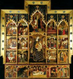 El retablo de la Virgen procedente del monasterio de Sigena es una obra de pintura al temple sobre tabla realizada entre 1367 y 1381 por un maestro anónimo que se ha identificado con Pere Serra o con Jaume Serra.