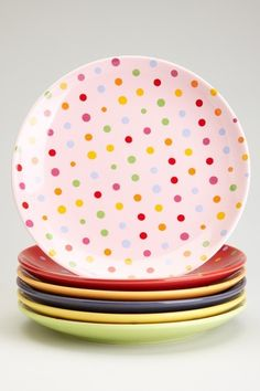 polka dot plate