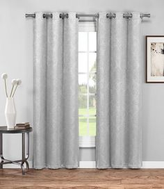 "Warm Home Designs 1 Pair of 38"" Grey Insulated Thermal Blackout Energy Efficient Curtains"