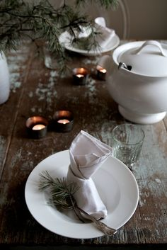 great for winter...cut pine branches and put them in a white pitcher