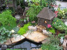 Recycled Miniature Fairy Garden Designs