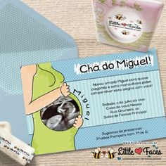Convite Chá de Bebê Ultrassom para Imprimir