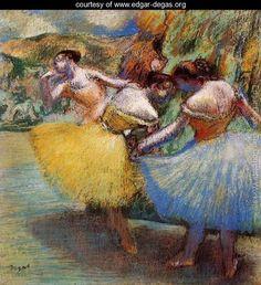 Three Dancers II - Edgar Degas - www.edgar-degas.org