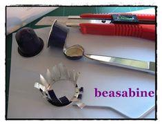 beasabine: como hago los pendientes con nespresso