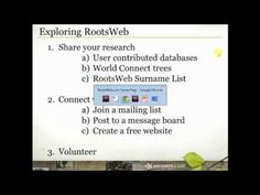 Do you know about this FREE Ancestry.com community resource?  Watch this quick video as Crista walks your through how to navigate Rootsweb and find what you need to help with your family history research. #genealogy