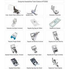 Kit, Conjunto Sapatas Calcadores Costura Domésticos 15 Itens 72,00 + 15,50 de FRETE.