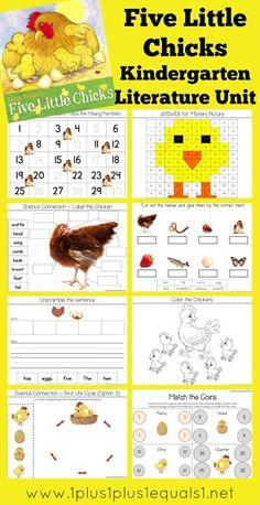 Five Little Chicks Kindergarten Literature Unit Printables
