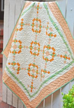 Lovely free pattern from Fig Tree & Co - Quilt made from Honeysweet
