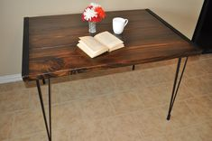 Farmhouse Dining Table / Desk with Hairpin Legs by DishmanWoodworks on Etsy