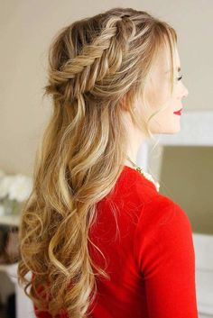 Super simple fishtail braid tutorial. Our tutorial will help you to figure out how to create this gorgeous hairstyle in just several minutes. After mastering this hairstyle, you can rock it for any occasion, be it a day at work or a date.