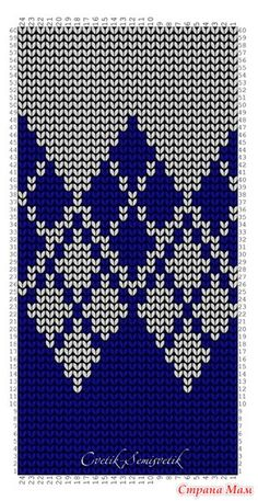 Узоры с описаниями, перфокарты - Машинное вязание: Группы - Страна Мам Knitting Charts, Knitting Stitches, Knitting Needles, Crochet Designs, Knitting Designs, Knitting Projects, Tapestry Crochet, Crochet Shawl, Knit Crochet