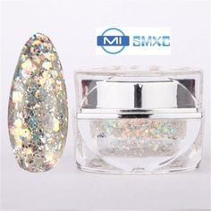 [Visit to Buy] MISMXC 20ML 0.8OZ High Quality Soak Off UV Gel Shiny Colors Glitter Powder Nail Art Builder Gel 014 #Advertisement
