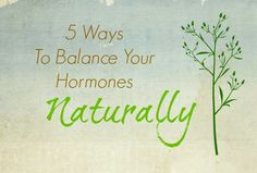 5 Ways to Balance your Hormones Naturally PrimallyInspired.com