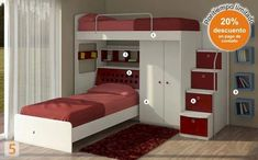 """Receive terrific pointers on """"bunk beds for kids room"""". They are available for you on our internet site. Bunk Bed Designs, Girl Bedroom Designs, Girls Bedroom, Home Bedroom, Bedroom Decor, Kids Bed Design, Bunk Rooms, Kids Bunk Beds, Loft Spaces"""